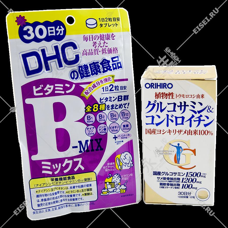Комплект глюкозамин + хондроитин и группа витаминов B