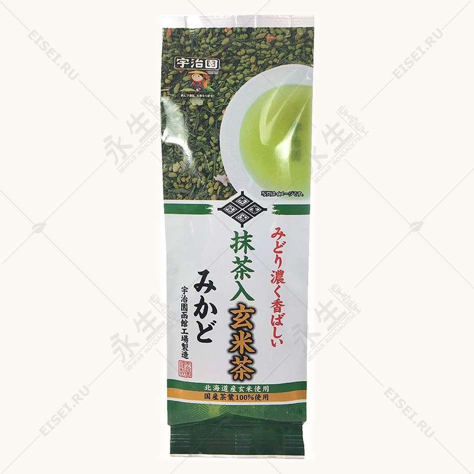 Зеленый чай с жаренным рисом и матча - Ujien
